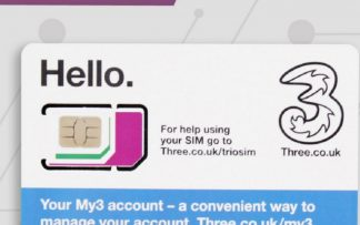 Three UK Prepaid Europe SIM with up to 12GB data for 42